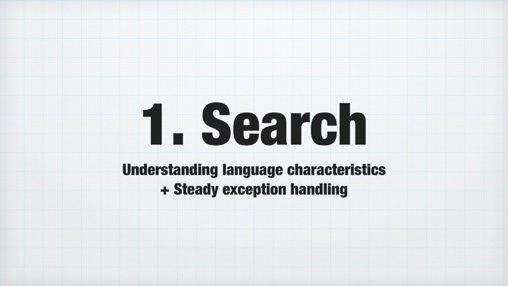 1. Search Understanding language characteristic...
