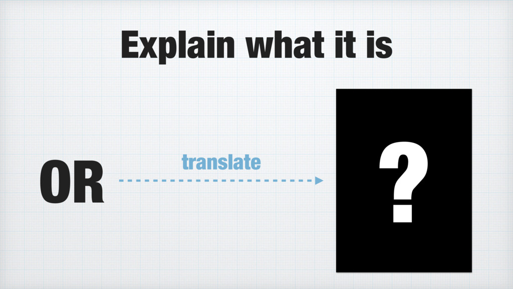 Explain what it is OR ? translate