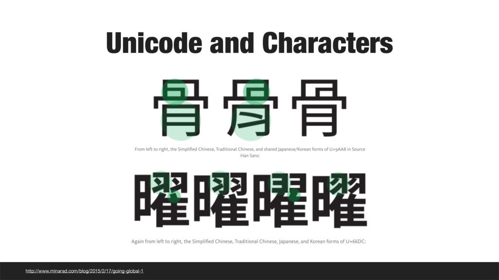 Unicode and Characters http://www.minarad.com/b...