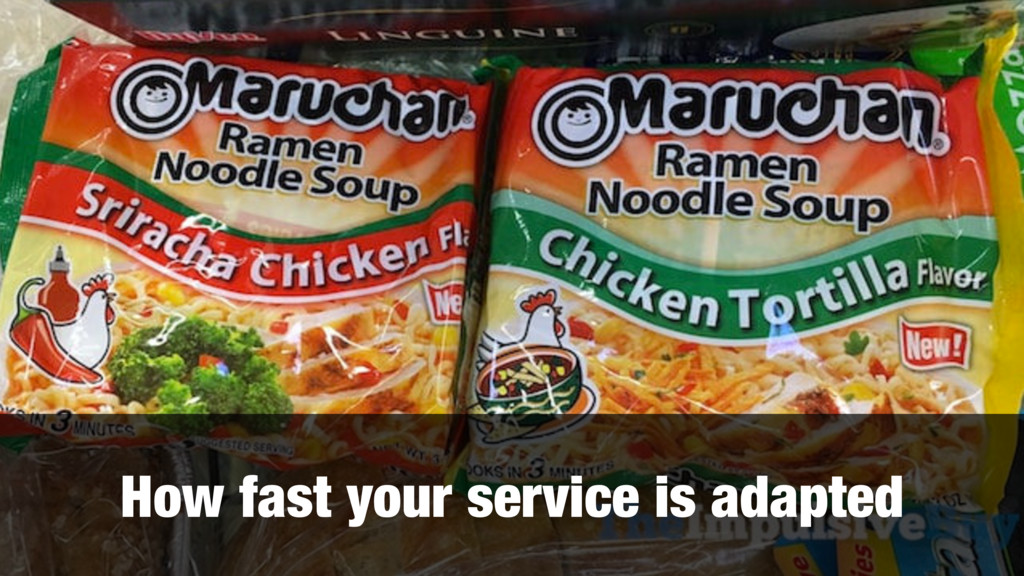 How fast your service is adapted