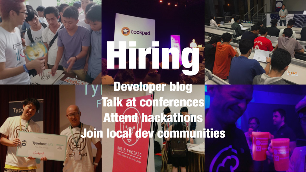 Hiring Developer blog Talk at conferences Atten...