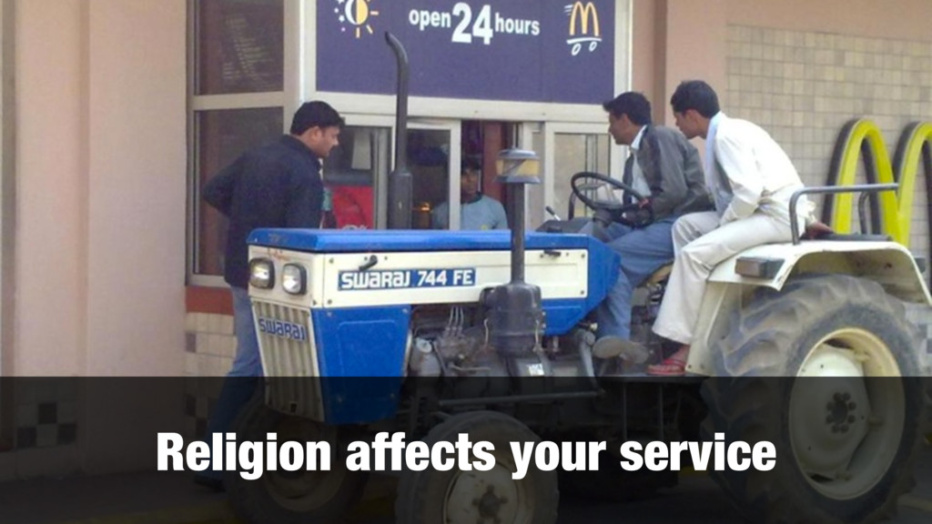 Religion affects your service