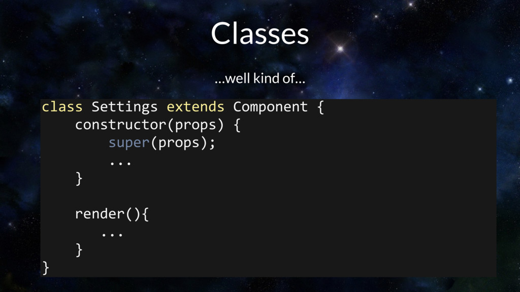 class Settings extends Component { constructor(...