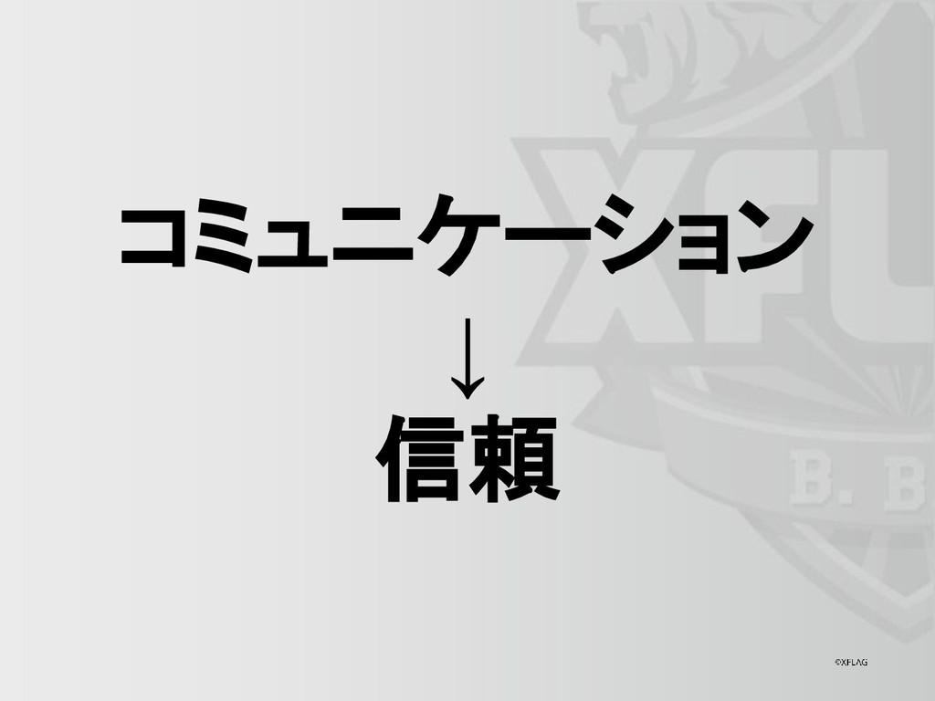 コミュニケーション ↓ 信頼