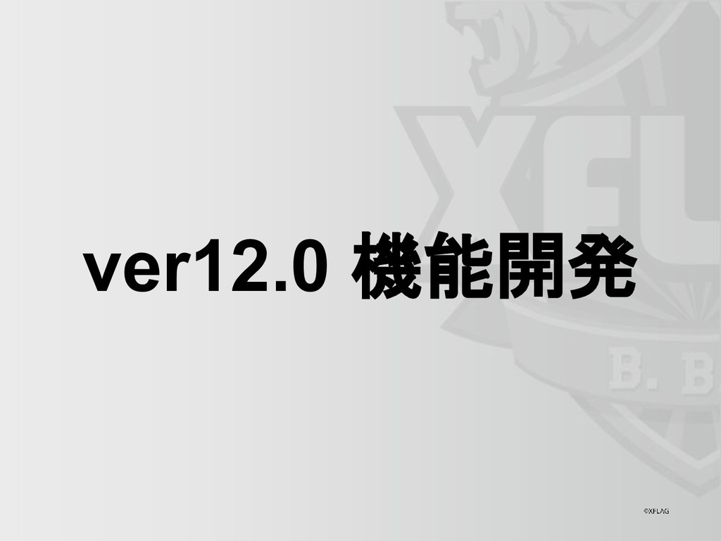 ver12.0 機能開発