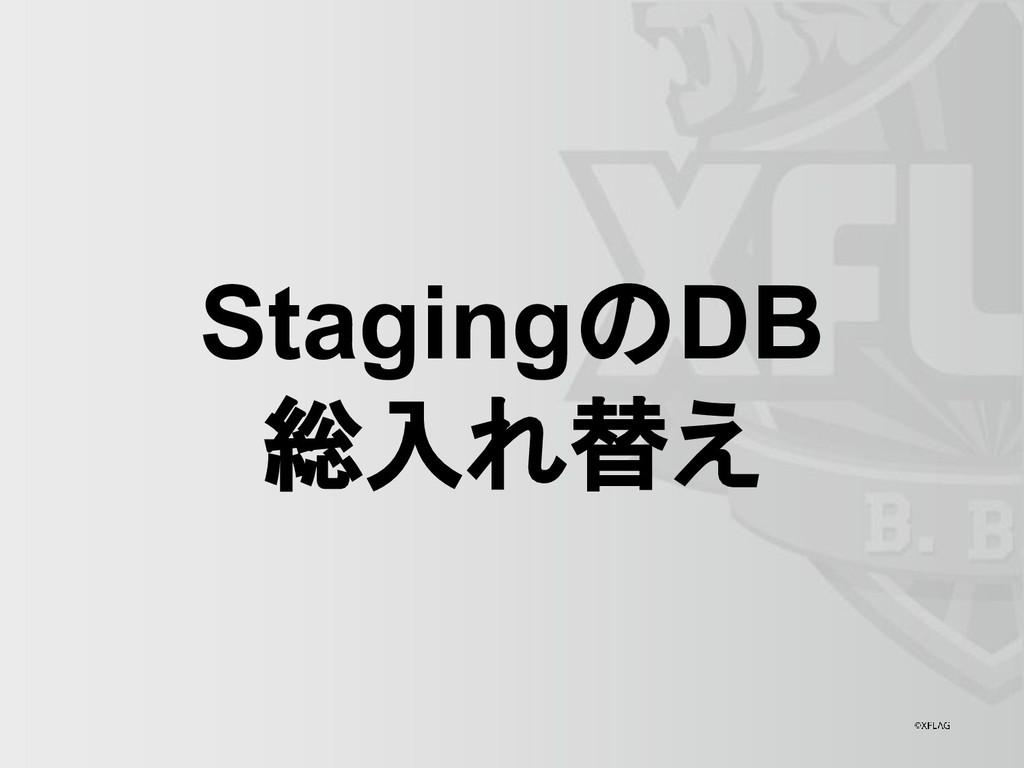 StagingのDB 総入れ替え