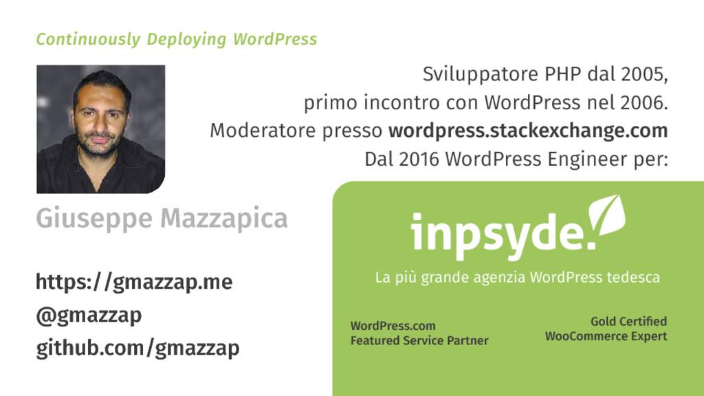 Continuously Deploying WordPress La più grande ...