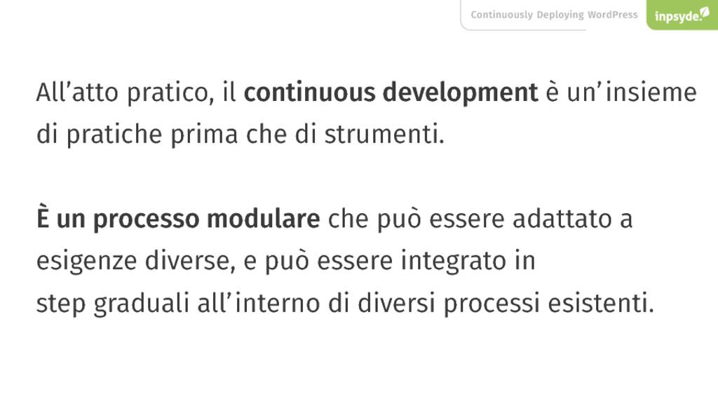 Continuously Deploying WordPress All'atto prati...