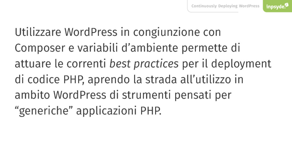 Continuously Deploying WordPress Utilizzare Wor...