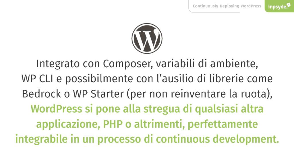 Continuously Deploying WordPress Integrato con ...