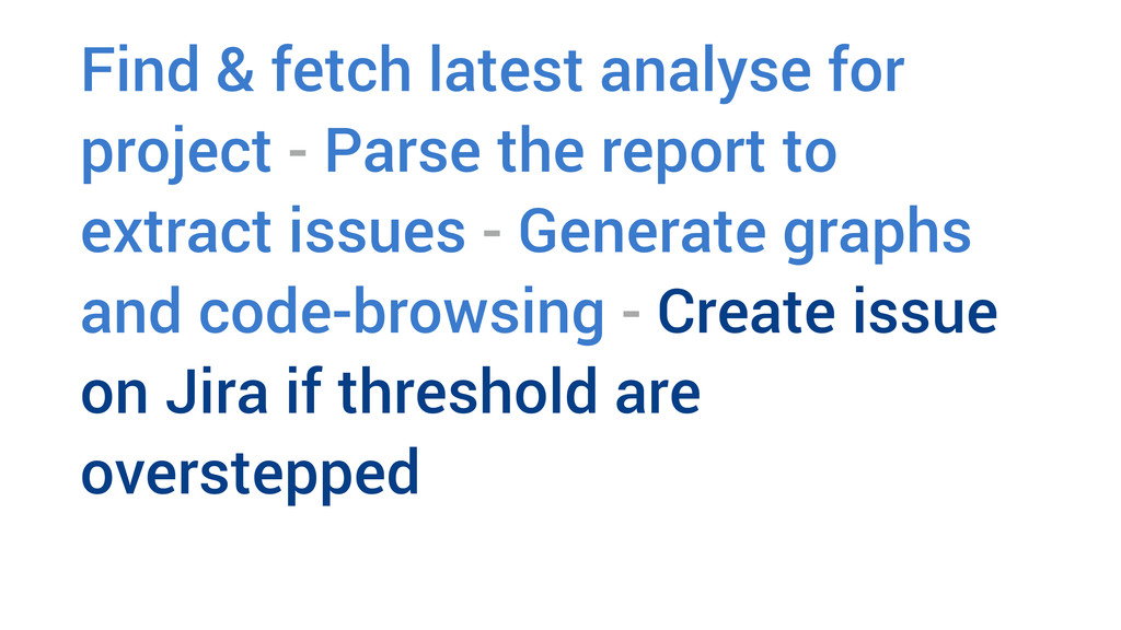 Find & fetch latest analyse for project - Parse...