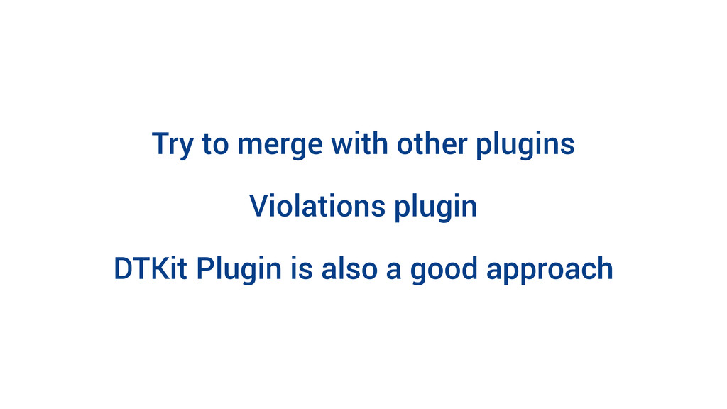 Try to merge with other plugins Violations plug...
