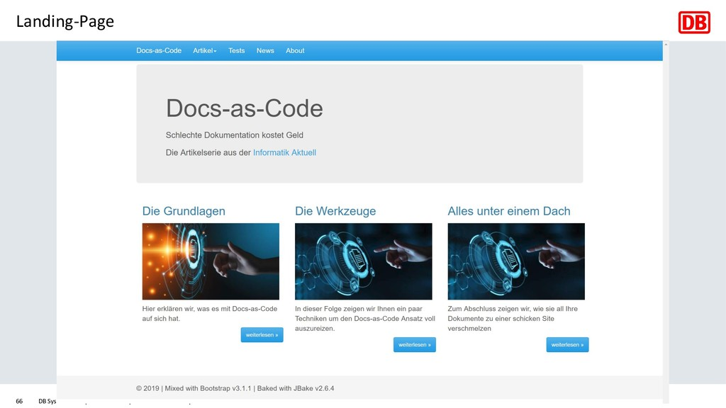 Landing-Page DB Systel GmbH | Ralf D. Müller | ...