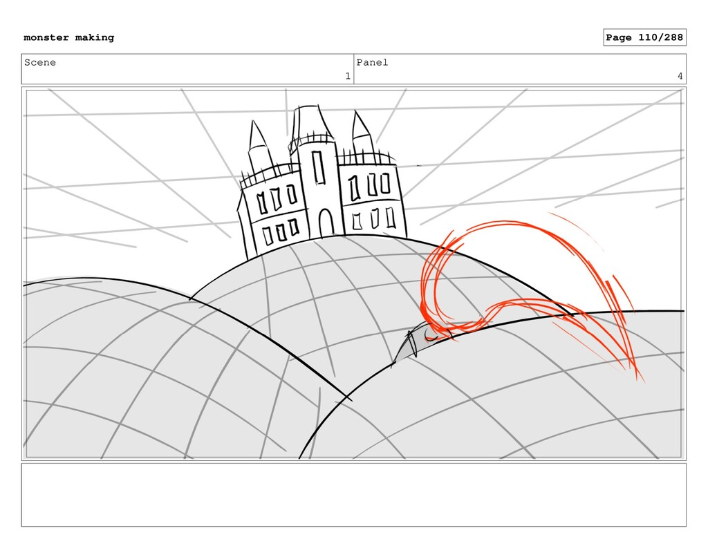 Scene 1 Panel 4 monster making Page 110/288