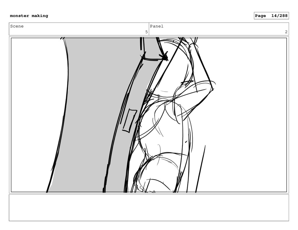 Scene 5 Panel 2 monster making Page 14/288