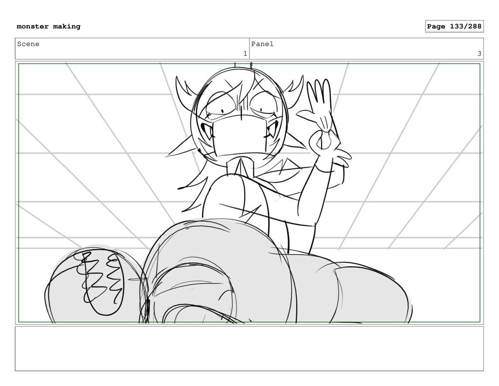 Scene 1 Panel 3 monster making Page 133/288