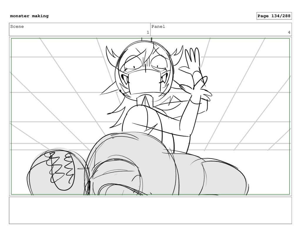 Scene 1 Panel 4 monster making Page 134/288