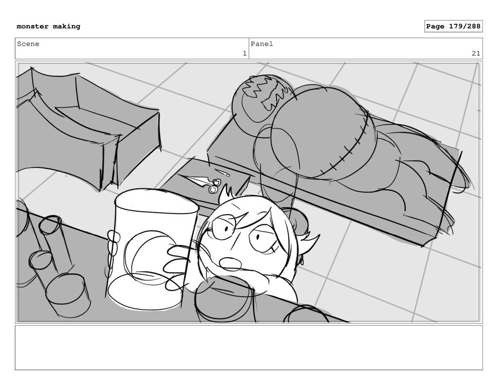 Scene 1 Panel 21 monster making Page 179/288