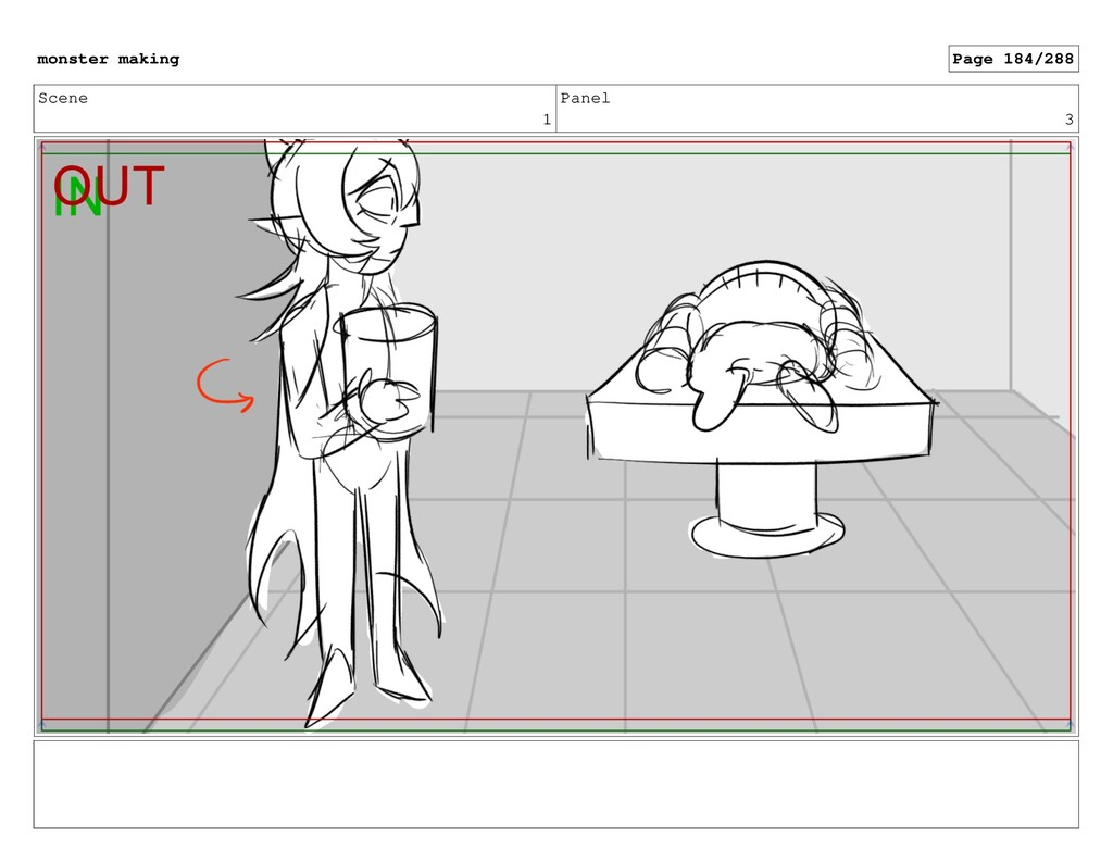 Scene 1 Panel 3 monster making Page 184/288