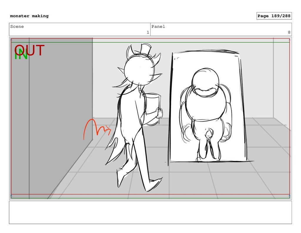 Scene 1 Panel 8 monster making Page 189/288