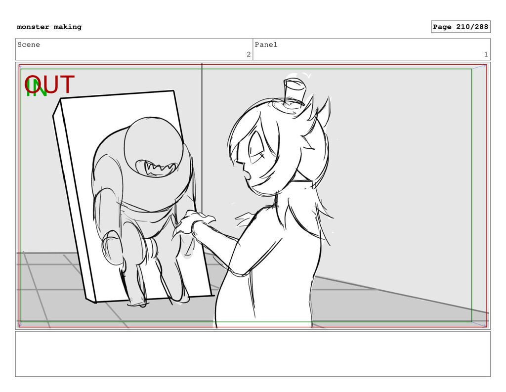 Scene 2 Panel 1 monster making Page 210/288