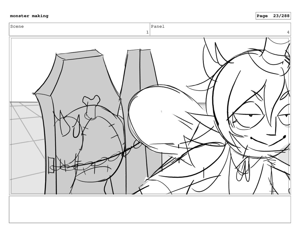 Scene 1 Panel 4 monster making Page 23/288