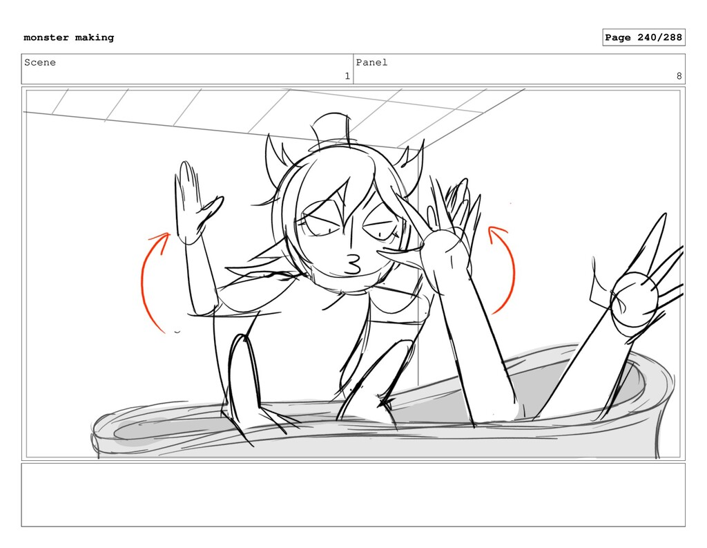 Scene 1 Panel 8 monster making Page 240/288