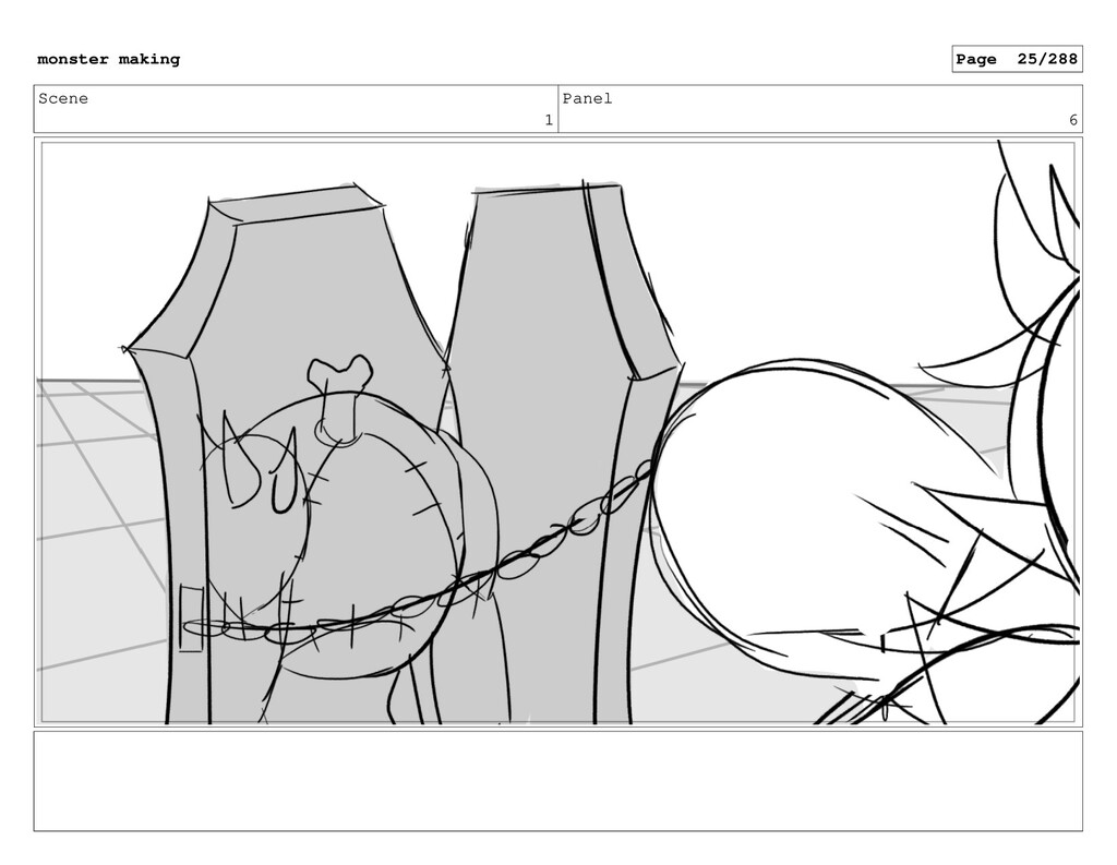 Scene 1 Panel 6 monster making Page 25/288
