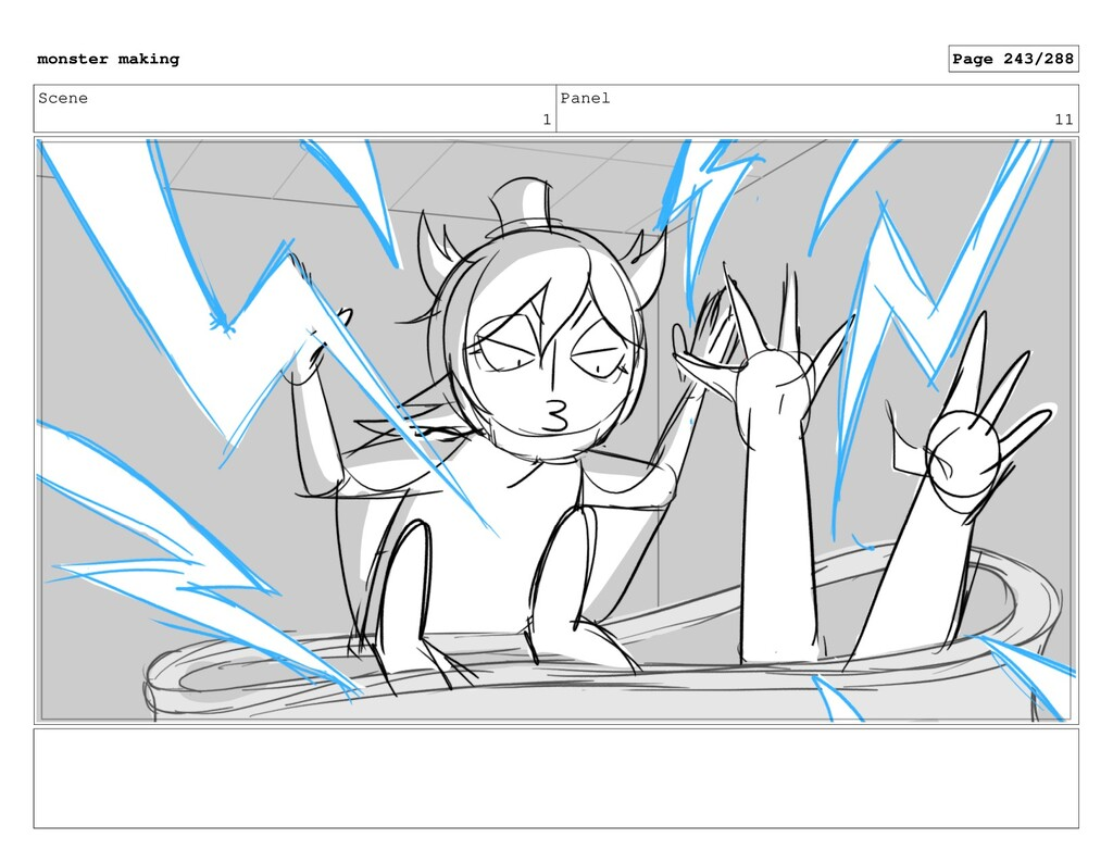 Scene 1 Panel 11 monster making Page 243/288