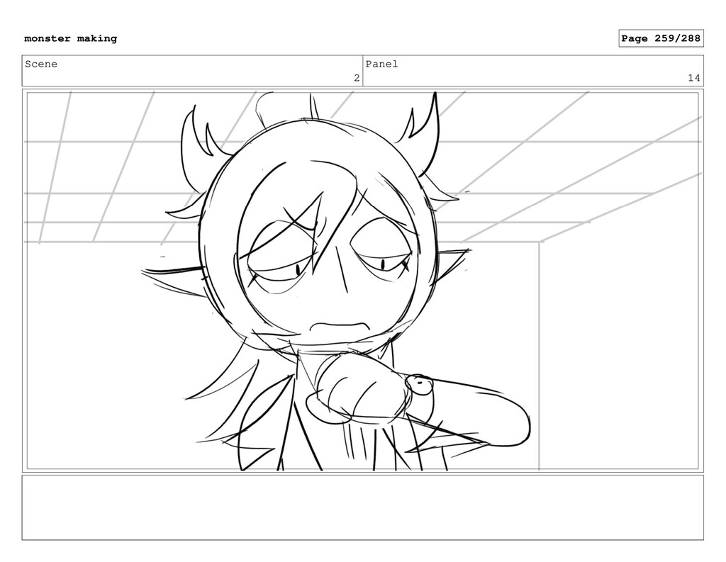 Scene 2 Panel 14 monster making Page 259/288