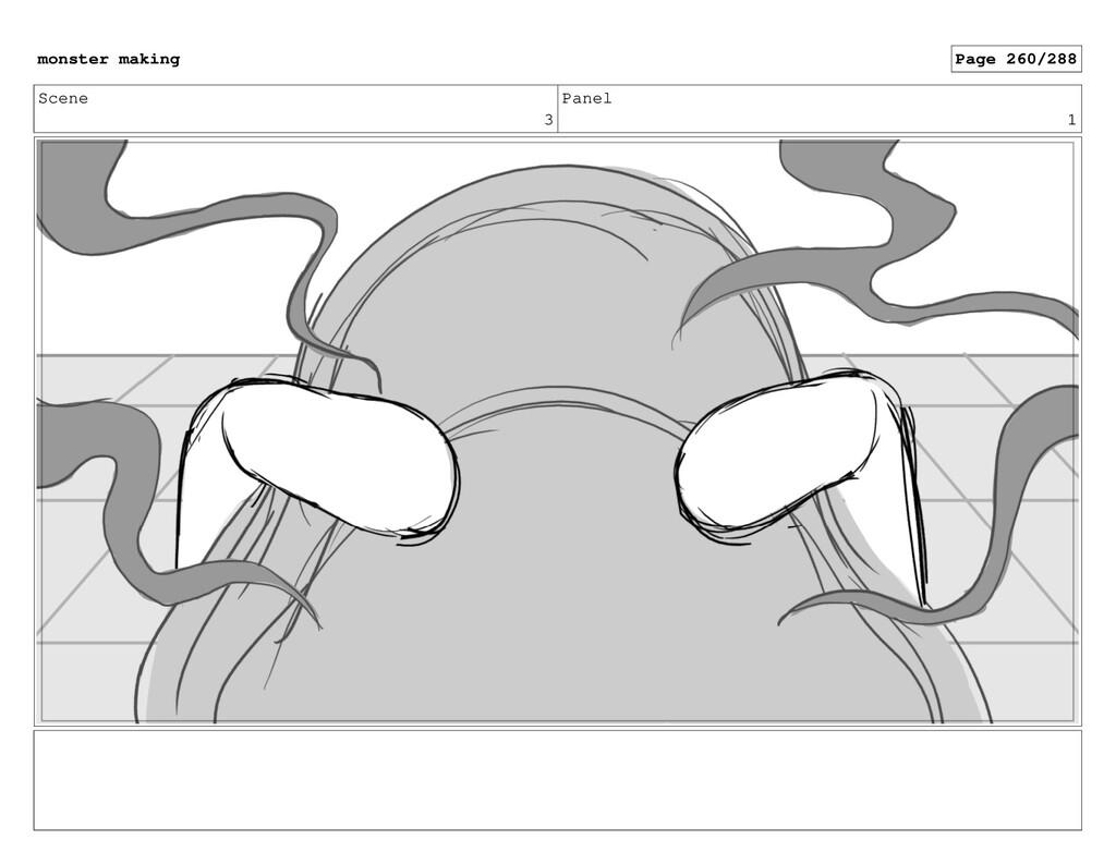 Scene 3 Panel 1 monster making Page 260/288