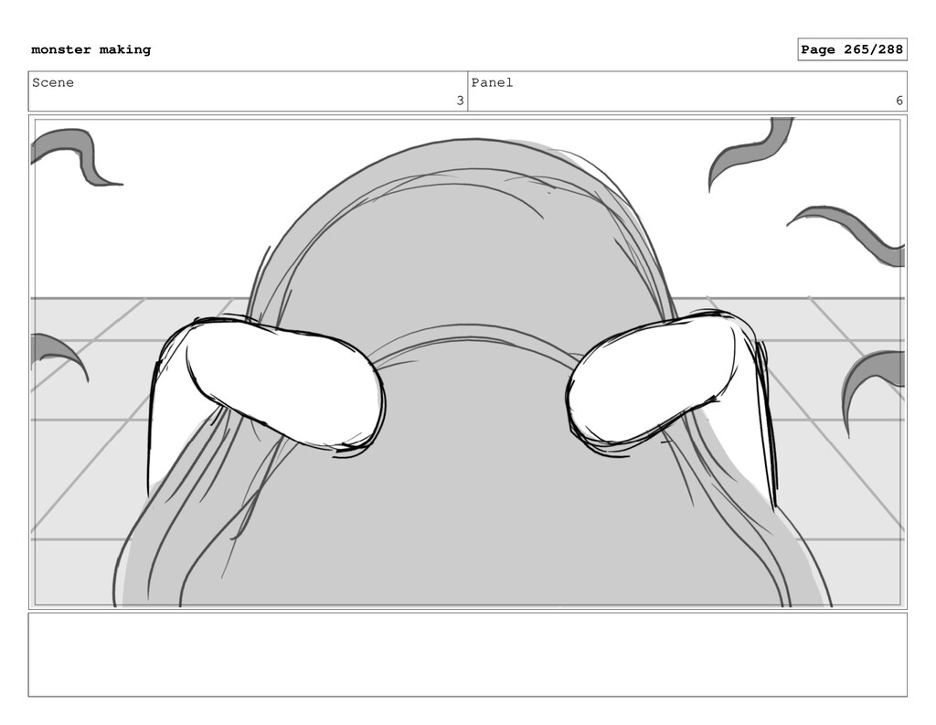 Scene 3 Panel 6 monster making Page 265/288