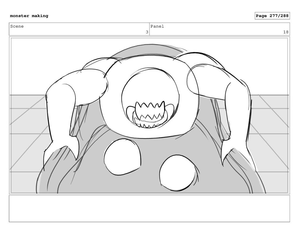 Scene 3 Panel 18 monster making Page 277/288