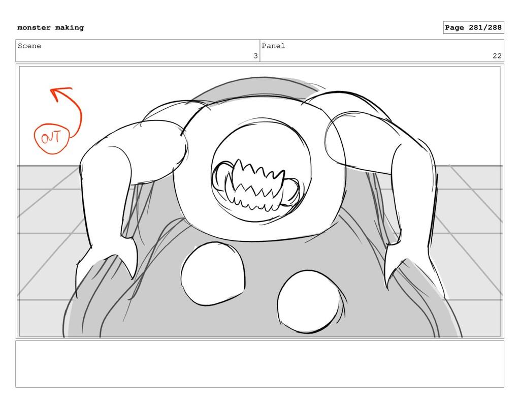 Scene 3 Panel 22 monster making Page 281/288