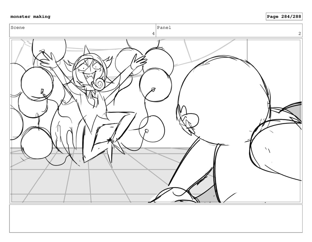 Scene 4 Panel 2 monster making Page 284/288