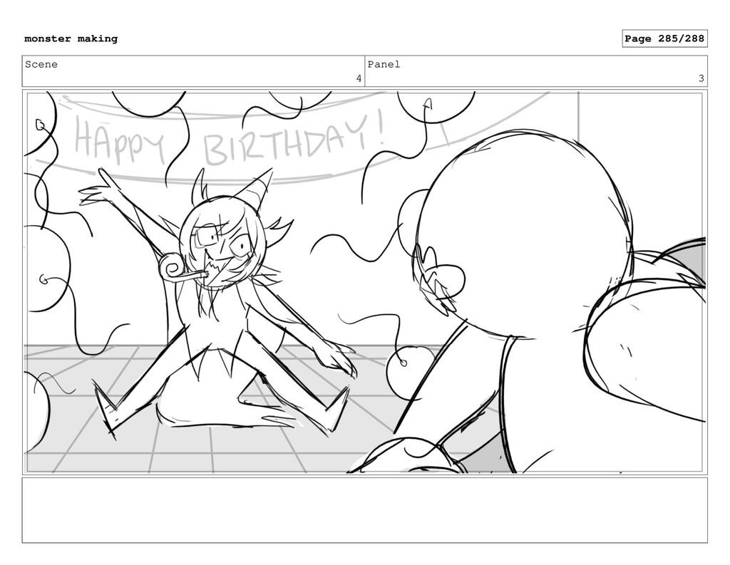 Scene 4 Panel 3 monster making Page 285/288