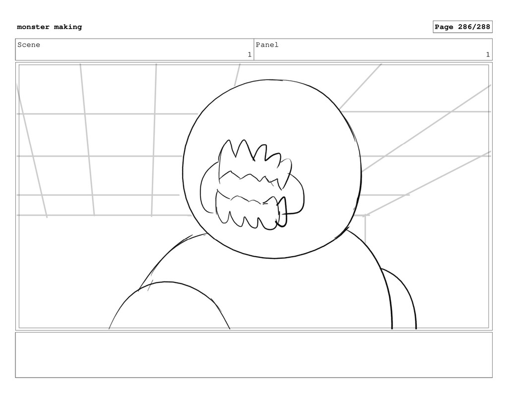 Scene 1 Panel 1 monster making Page 286/288