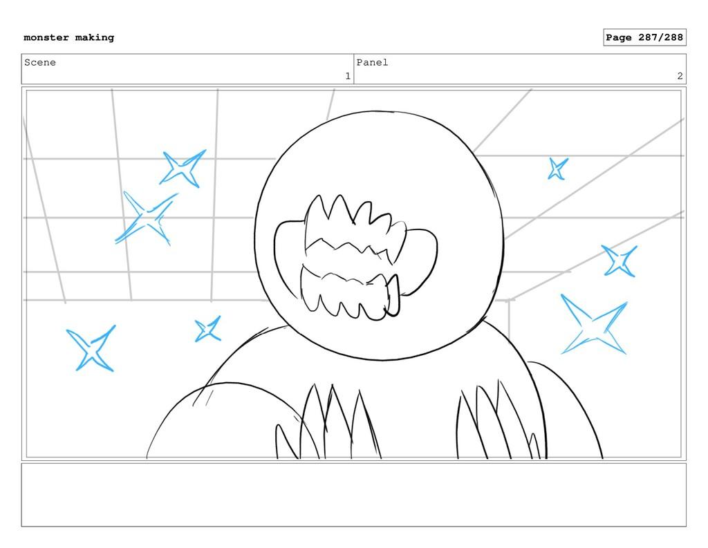 Scene 1 Panel 2 monster making Page 287/288