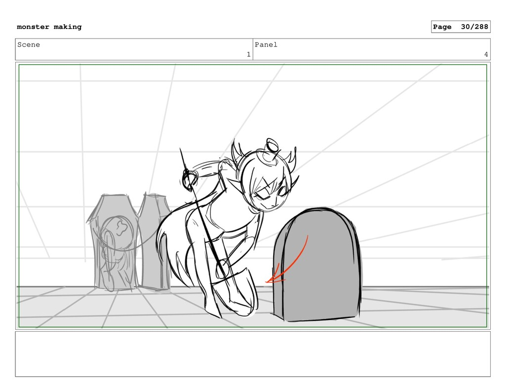 Scene 1 Panel 4 monster making Page 30/288