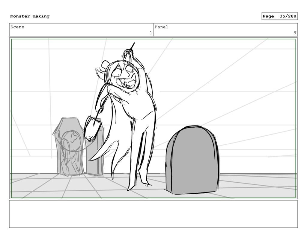 Scene 1 Panel 9 monster making Page 35/288