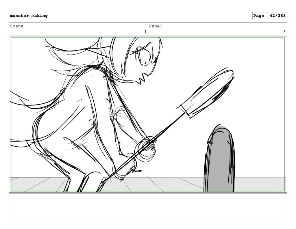 Scene 1 Panel 3 monster making Page 42/288