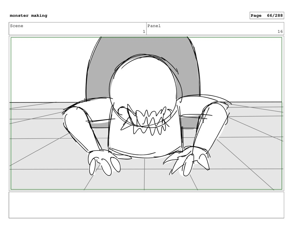 Scene 1 Panel 16 monster making Page 66/288