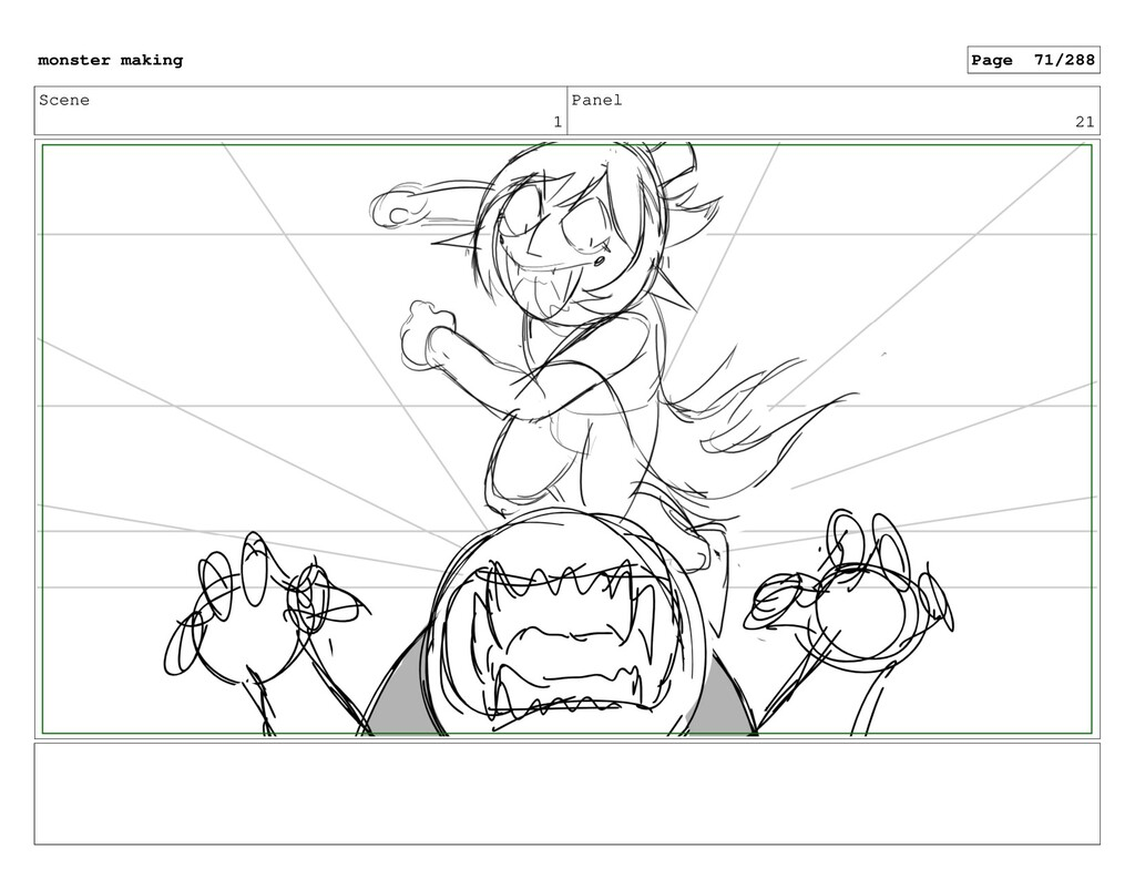 Scene 1 Panel 21 monster making Page 71/288