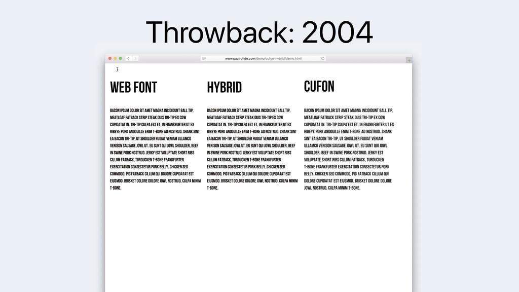 Throwback: 2004