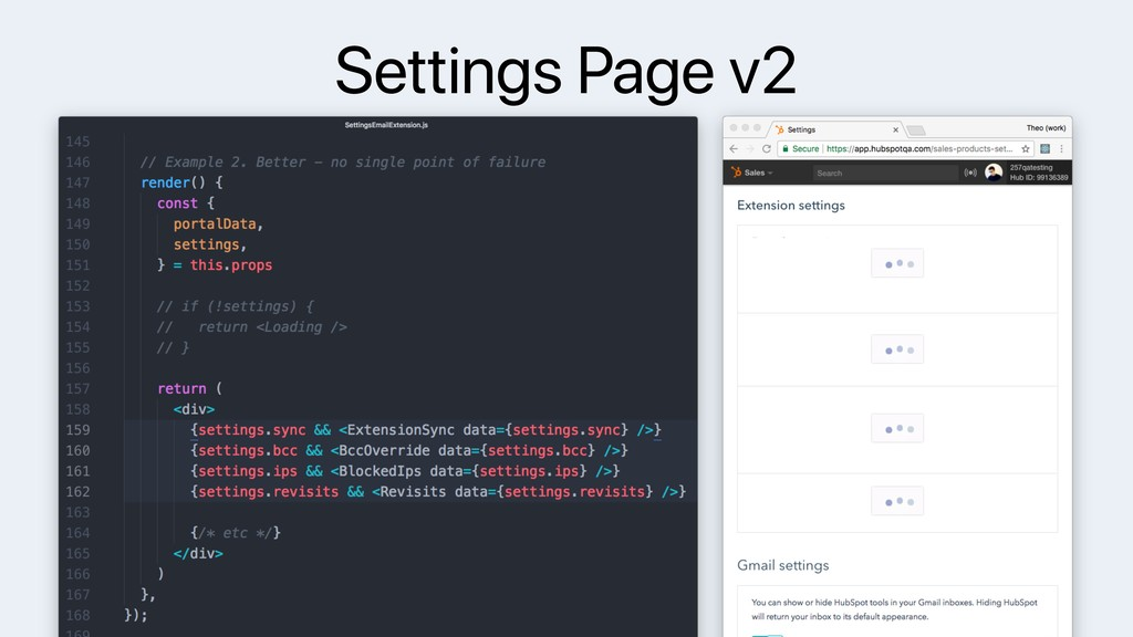 Settings Page v2