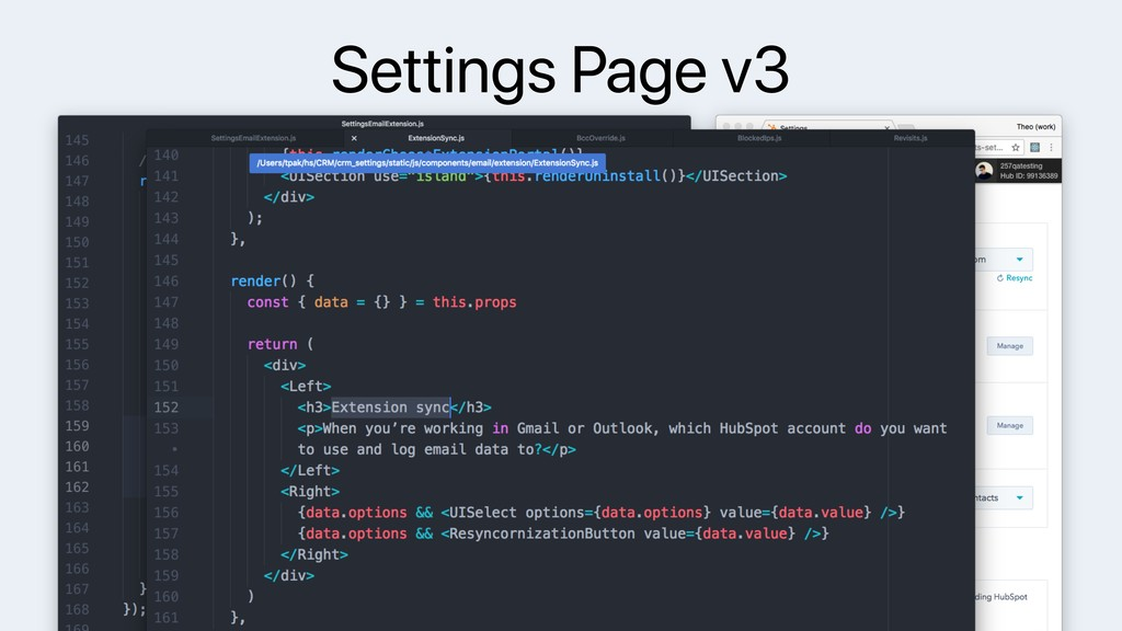 Settings Page v3