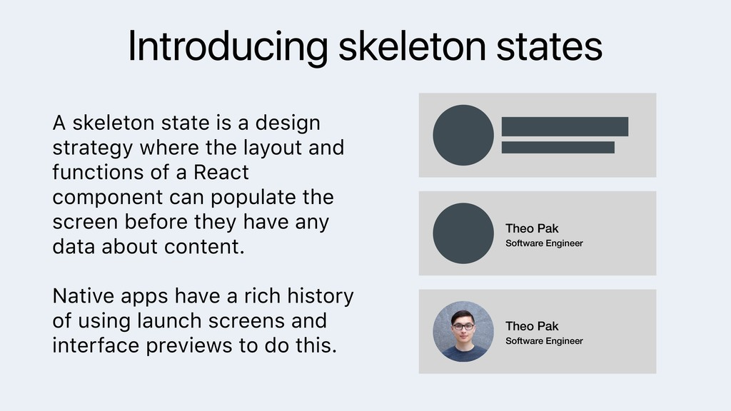 Introducing skeleton states A skeleton state is...