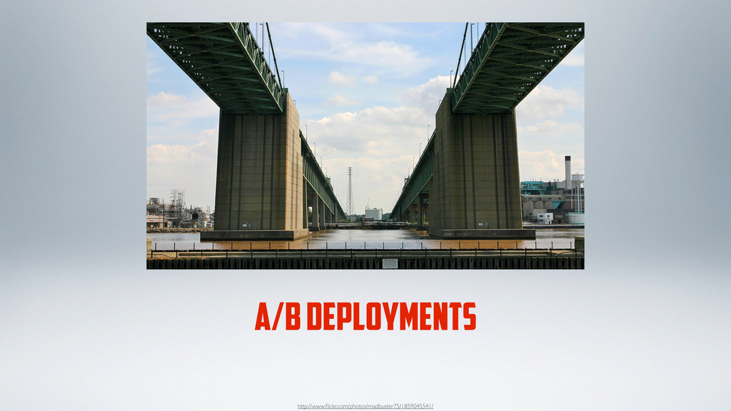 A/B DEPLOYMENTS http://www.flickr.com/photos/mad...