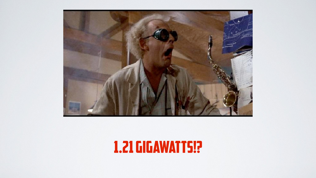 1.21 GIGAWATTS!?