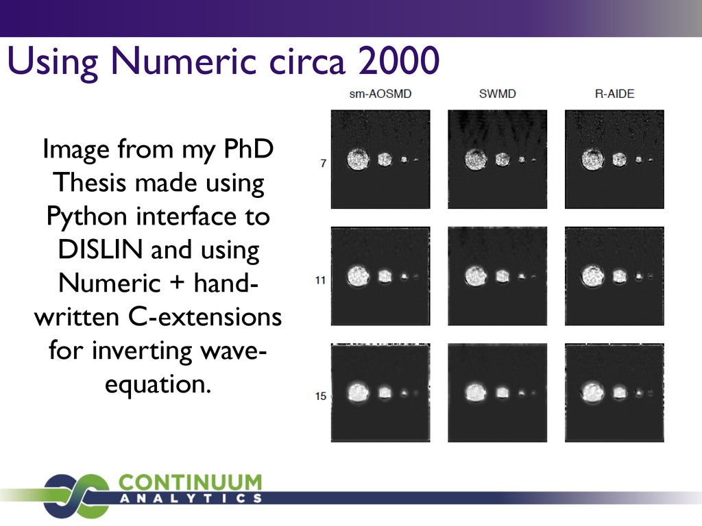 Using Numeric circa 2000 Image from my PhD Thes...
